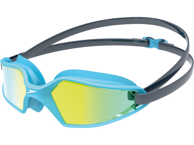speedo Hydropulse Mirror Gafas Niños, navy/blue bay/gold yellow